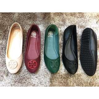 70817024 Cco Hong Kong Import Flat Shoes Sepatu Fashion Wanita Semi Premium Quality Tory Krem Maroon Hijau Hitam