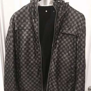 Louis Vuitton Damier Graphite Reversible Hoodie Jacket