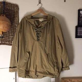 日本購入 連帽古著外套 公發海軍甲板外套 pullover Outdoor 登山露營山系
