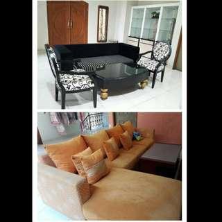 Sofa Satu Set ( ADA 2 TIPE SESUAI GAMBAR)