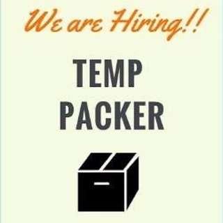 Packer   $8/hr   immediately - 18th Aug 17   Pasir Panjang