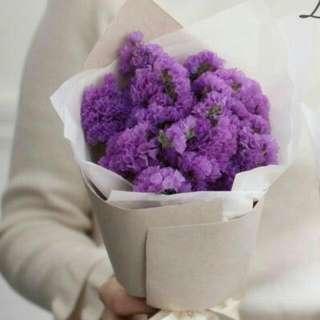 Fluffy Purple Flower Bouquet - Glfavour