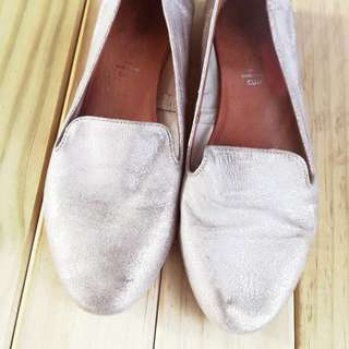 Silver Leather Shoes