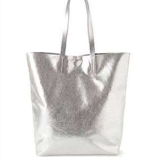 Silver Leather Country Road Bag