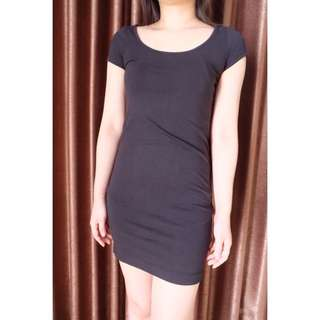 hnm black dress casual