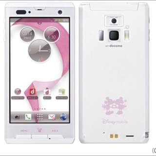 日版(有簡體中文) DoCoMo Fujitsu F-08D 迪士尼 4GB白色限量款 防水防塵 Android 手機(有大量)