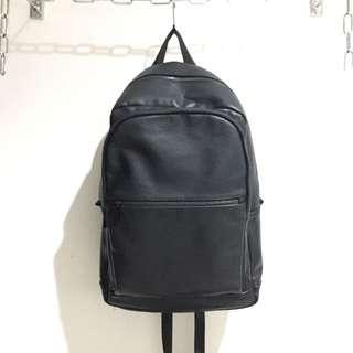 Bershka Faux Leather Backpack
