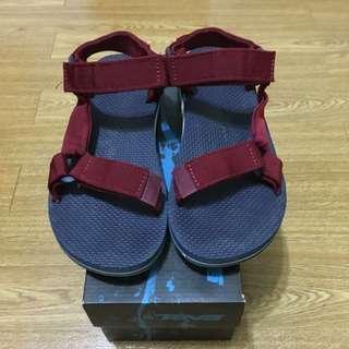 Teva 涼鞋 藍底紅織帶 US7