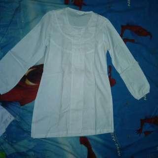 Baju Muslim Putih Polos