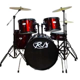 RJ Drum Set with Ride Cymbals