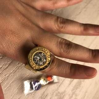 Bulgari Ring With Covertable Diamonds GOLD