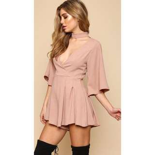 Choker Playsuit (Pink)