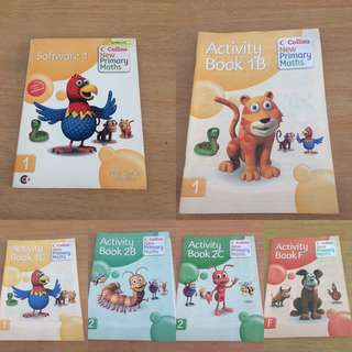 New Collins New Primary Maths Software 1 and Activity Book 1B,1C,2B,2C,F