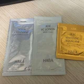 HABA 卸妝水 化妝水 美白精華 試用裝旅行裝 1套