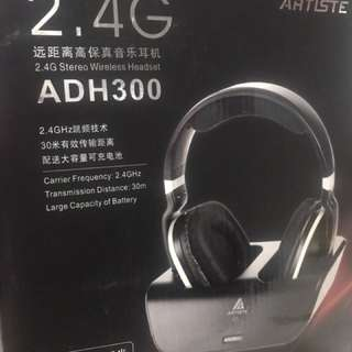 Artiste ADH300 2.4G HiFi Stereo Wireless TV Headphone With Digital Output Converter For PC TV