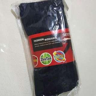 深藍色 羅紋襪褲 厚棉質襪