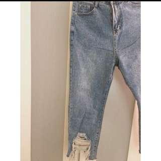 牛仔破褲(M號)含運