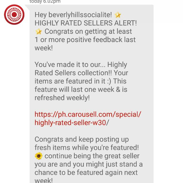 7th Time Thank You Carousell Team and Co-carousellers!