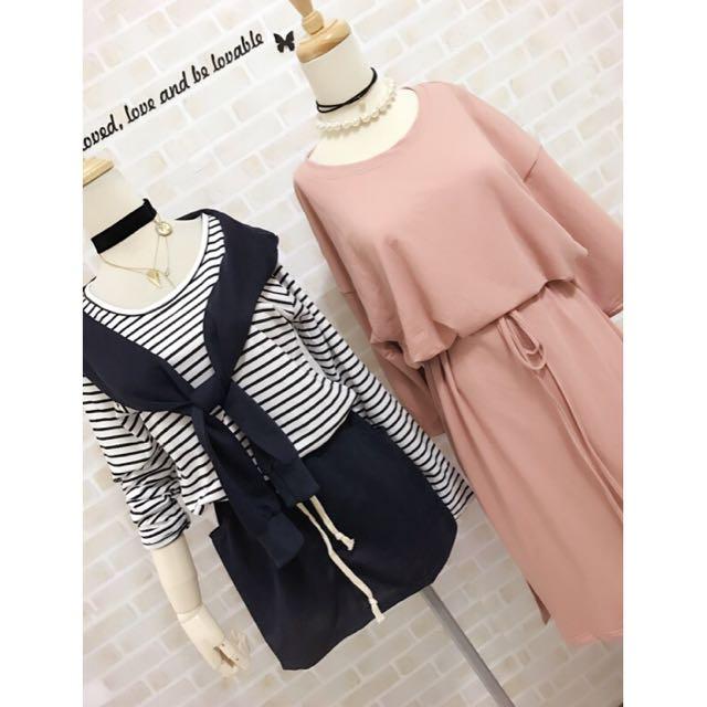 粉色綁帶連身裙 韓國好品質💝