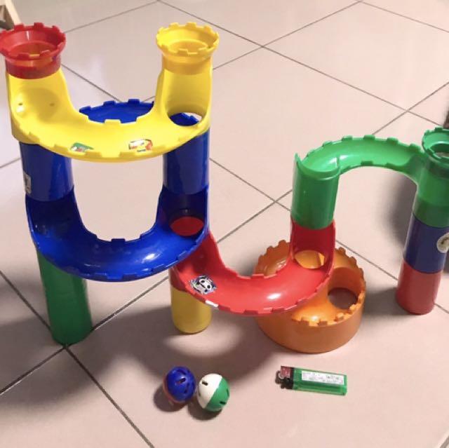 城堡積木型滾球軌道組