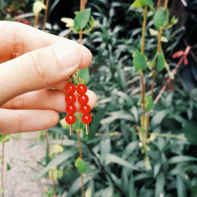 葫蘆糖耳環
