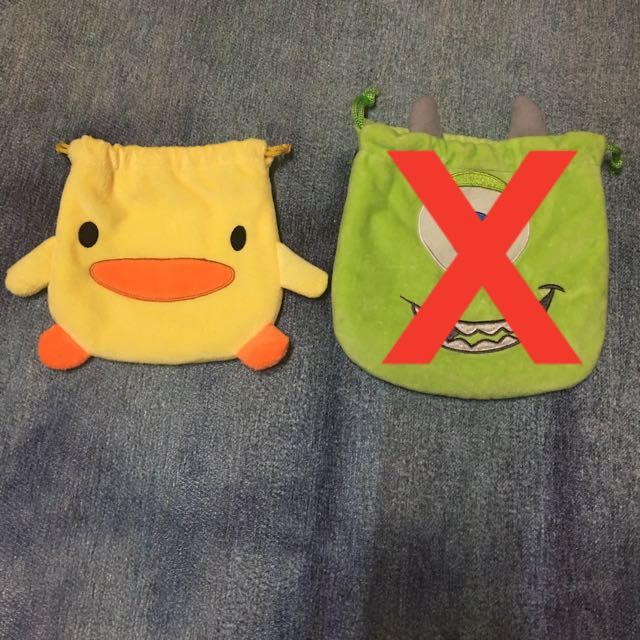 大眼仔 怪獸大學 怪獸電力公司 小鴨 小雞 束口袋 小物包