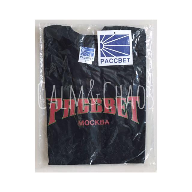 🎉現貨 PACCBET Logo T-Shirt rassviet 俄國 俄文 Gosha Rubchinsky 真貨