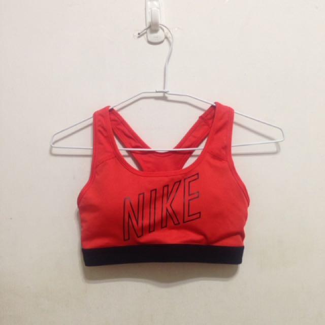 全新僅試穿 Nike桃紅運動內衣 S號