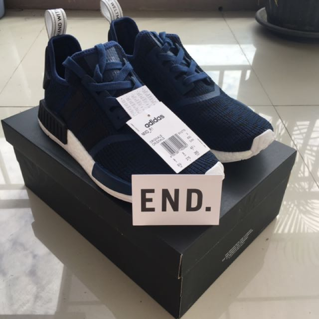 finest selection 09ee3 b7bf4 Adidas NMD R1 Mystery Blue Core Black Collegiate Navy, Men s Fashion, Men s  Footwear on Carousell