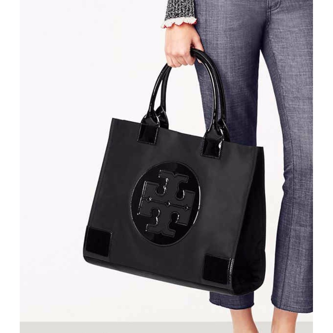 65c64ebf5fcc ... top quality authentic tory burch ella nylon large tote bag black womens  fashion bags wallets on