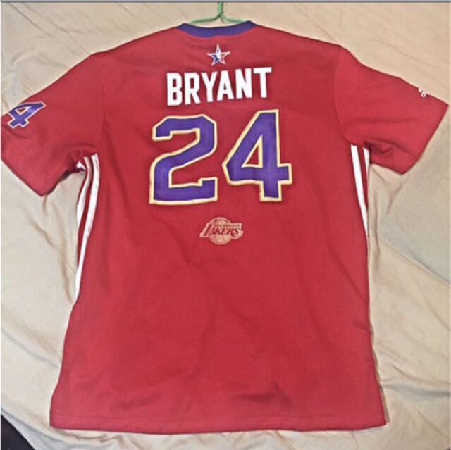 b0554bacd597 Authentic Kobe Bryant 2014 NBA West All Star Jersey Red Size M ...