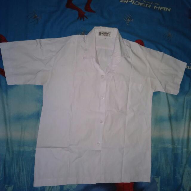 Baju Kemeja Putih Polos Lengan Pendek