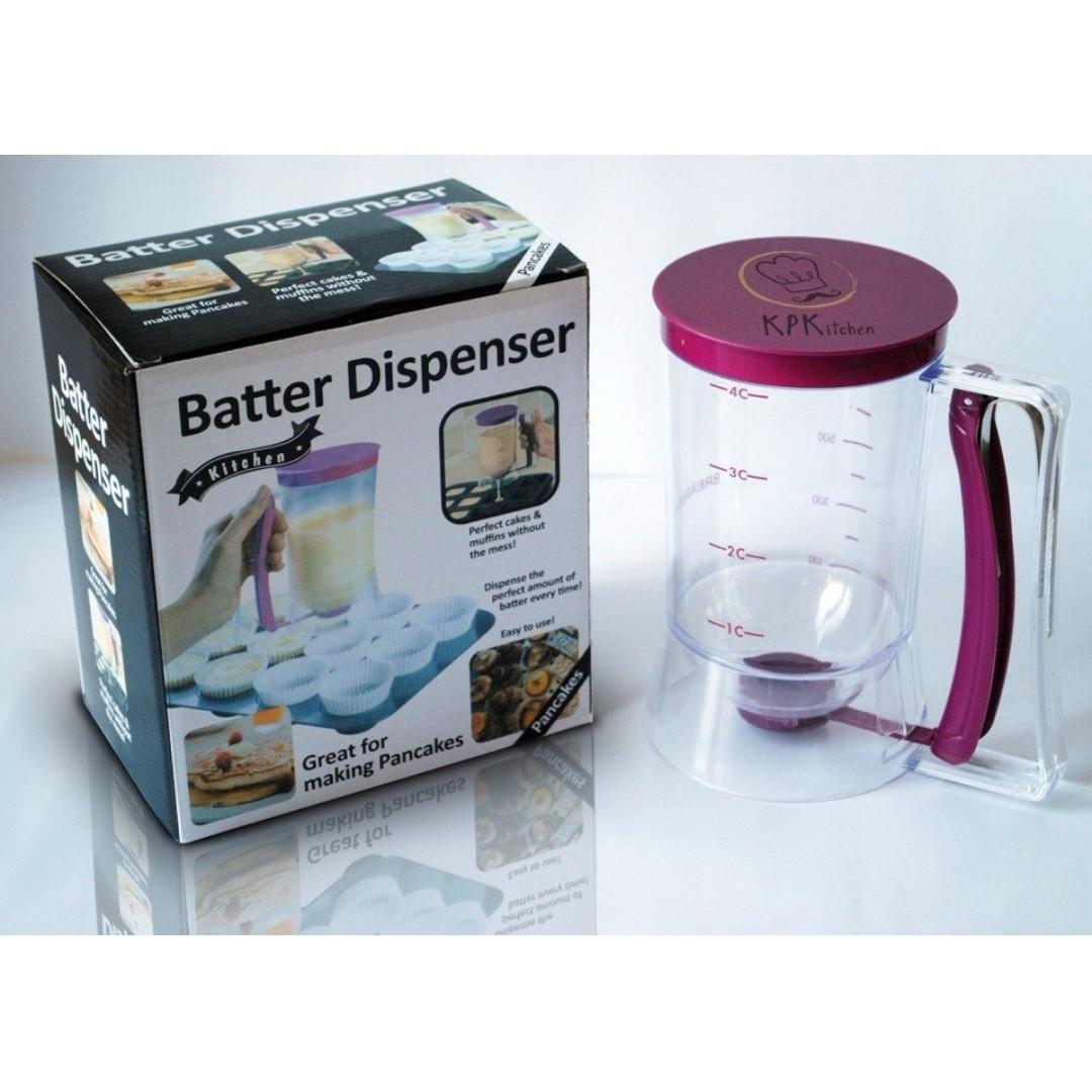 Batter Dispenser 900ml (Clear), Kitchen & Appliances on Carousell