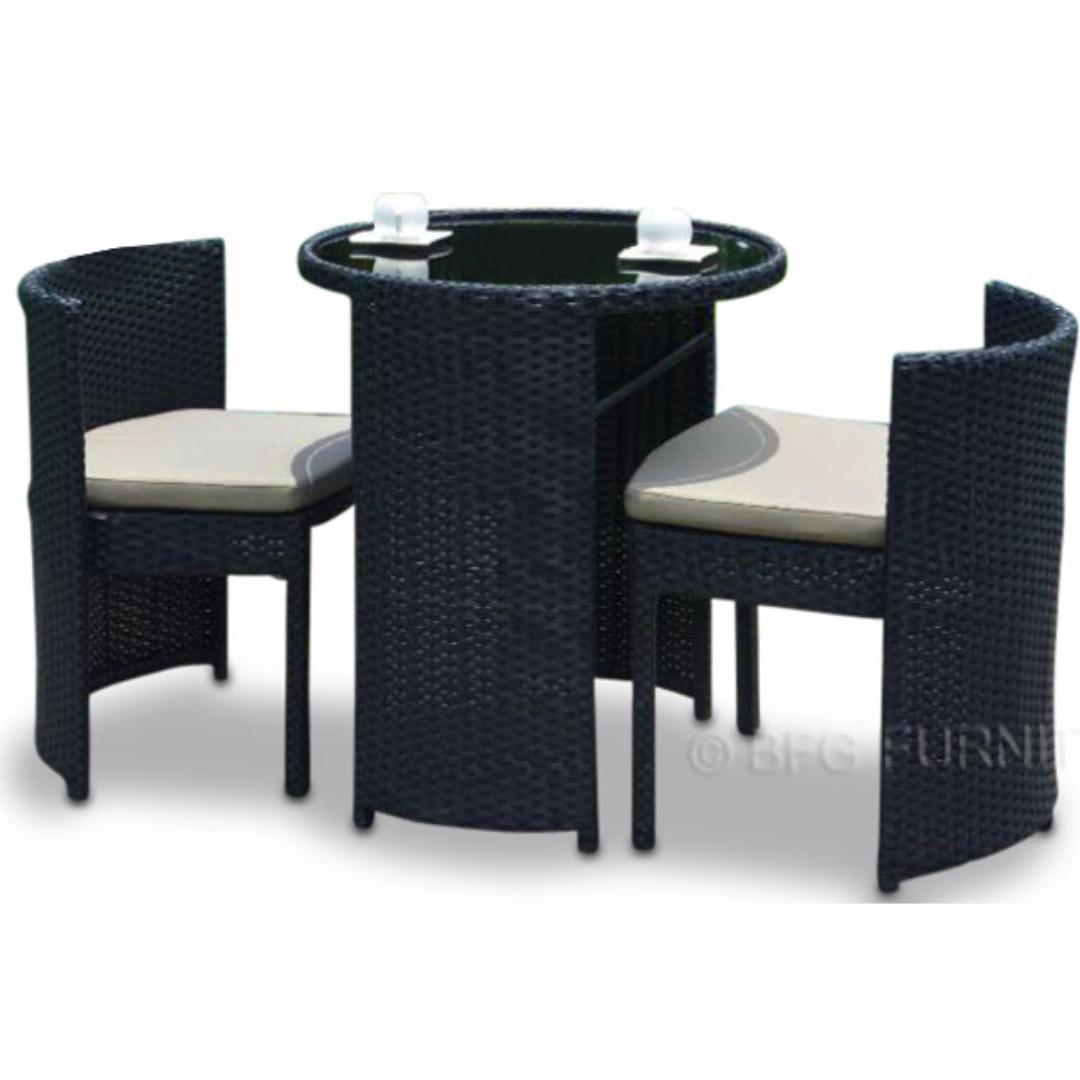 Bfg Furniture Flores Black Space Saving Ratttan Furniture Home Decor