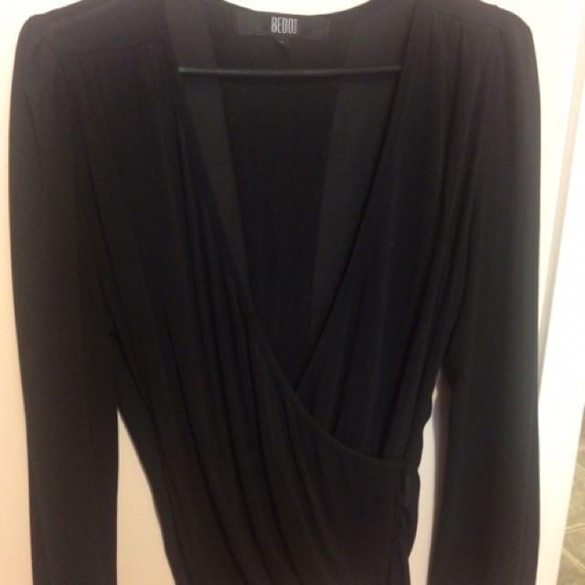 Black Blouse/shirt From Bedo