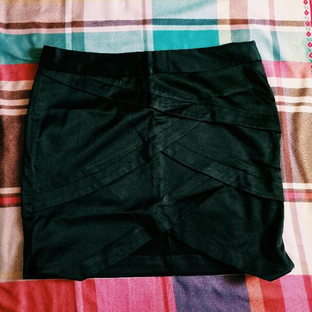 Black Silk Miniskirt