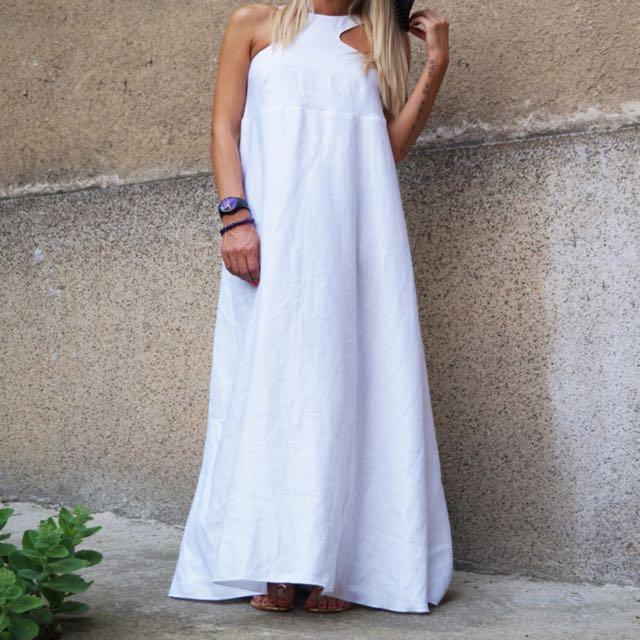 f849dfc16b BN Convertible White Kaftan  Asymmetrical  Tunic  Maxi White Dress ...