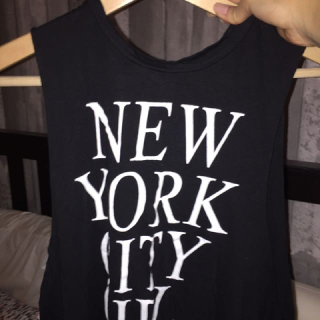 "Brandy Melville - ""New York City Girl"" Muscle Tee"