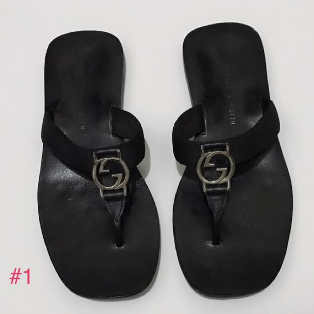 b085b5639ad52 BUNDLE SALE 3 PAIRS THONG SANDALS CHARLES   KEITH AND SMARTFIT SZ 35 ...