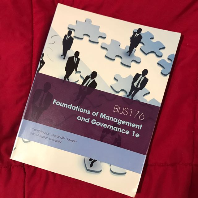 BUS176: Foundations of Management and Governance 1e
