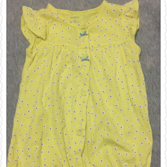 Carters Baby Romper - Yellow Flower