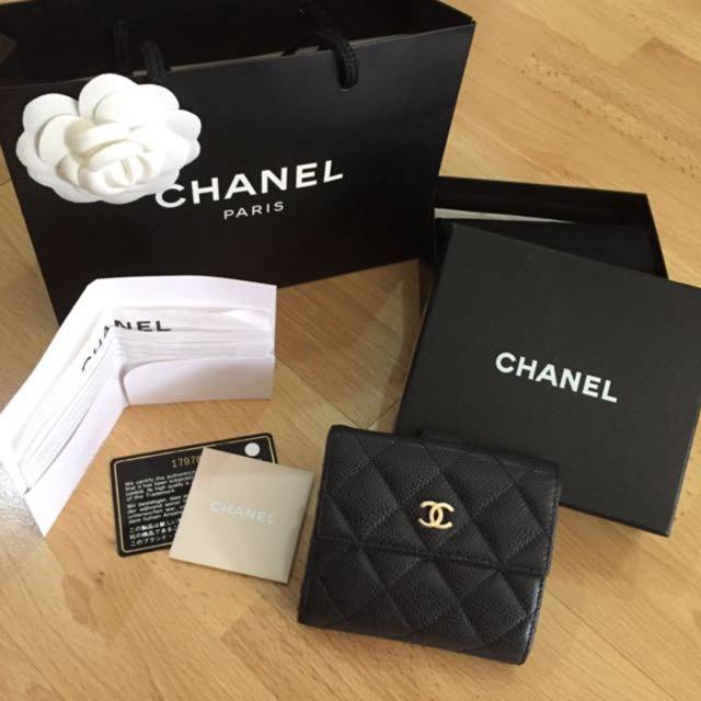589b1194c77c Chanel Short Wallet Black Caviar GHW