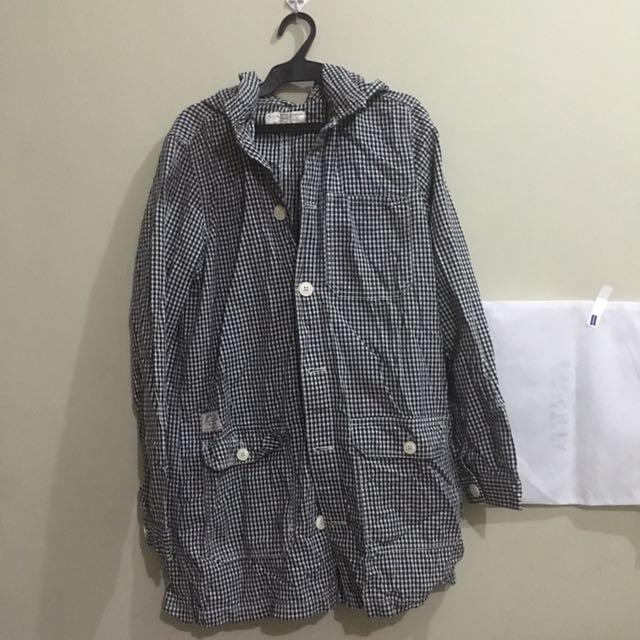 Checkered hoodie M