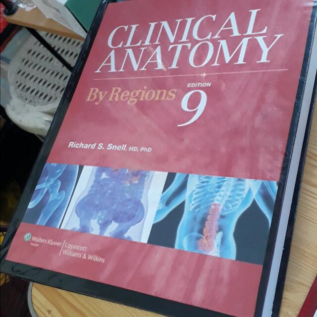 Clinical Anatomy By Regions Snell 9th Ed Textbooks On Carousell
