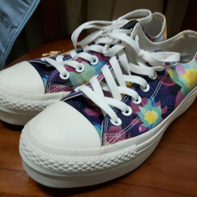 Converse 厚底帆布鞋(25公分)