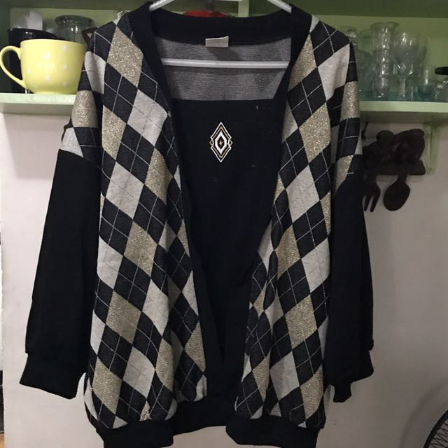 Cotton Sweater with Bat Wing Long Sleeve Arm