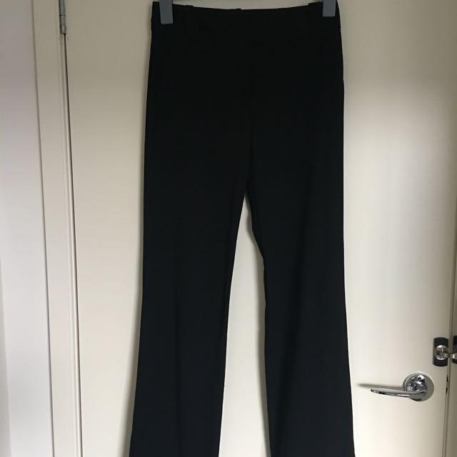 CUE Wide Band Wide Leg Trouser Size 6