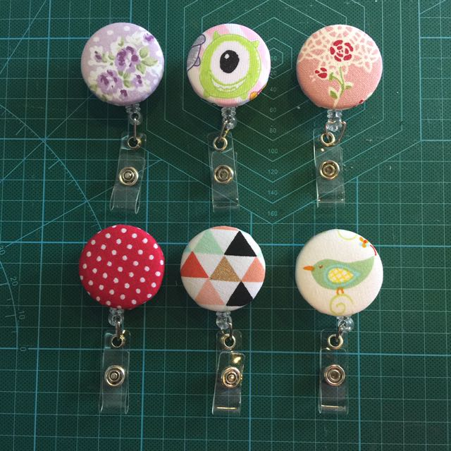 Custom Made Fabric Retractable Badge Reels Teacher's Day