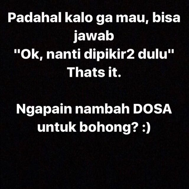 Customer Suka Nambah Dosa