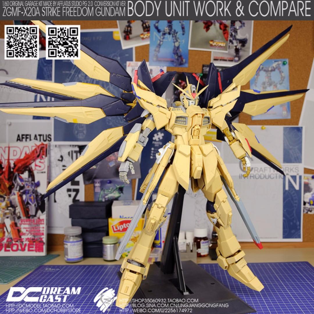 Dream Cast 1/60 Strike Freedom Gundam Resin Conversion Kit